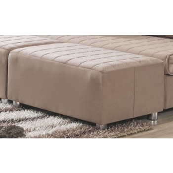 Day & Night Ottoman, Cappuccino by Casamode
