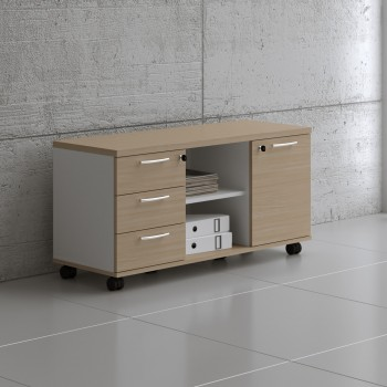 Managerial Storage A120ML, White + Beech
