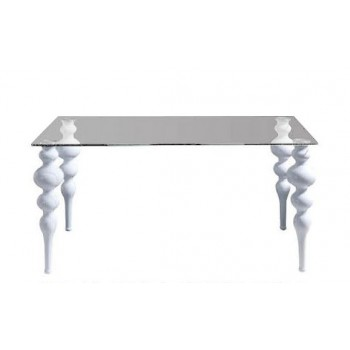 767 Big Dining Table, White
