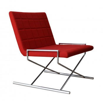 Chelsea X Chair, Red Camira Wool by SohoConcept Furniture