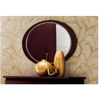Miss Italia Wooden Oval Mirror