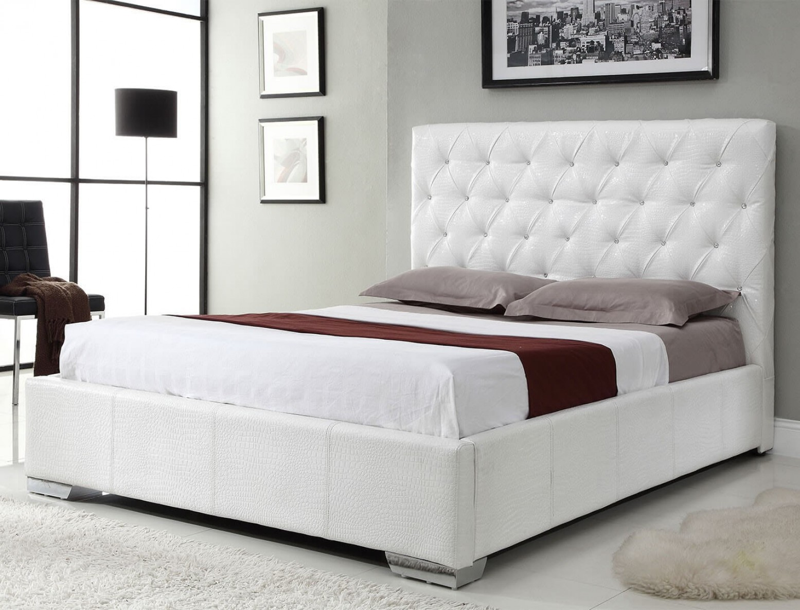 Picture of: Michelle King Size Bed White Buy Online At Best Price