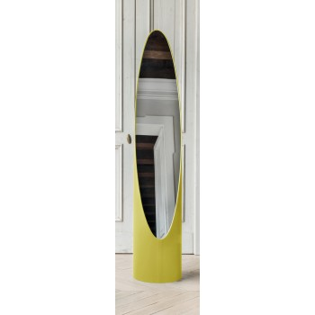 Kolonaky Mirror, Mustard Yellow Eco-Leather