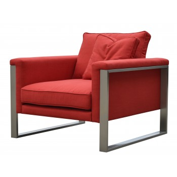 Boston Armchair, Red Fabric by SohoConcept Furniture