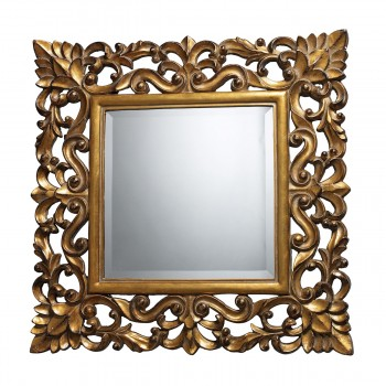 Barrets Mirror In Antique Gold Leaf And Gloss Gold