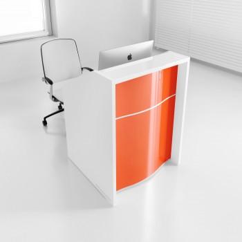 Wave LUV12 Reception Desk, High Gloss Orange