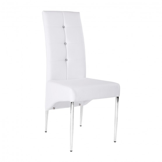 Side-4262 Dining Chair, White photo