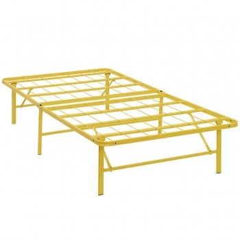 Horizon Twin Stainless Steel Bed Frame, Yellow by Modway
