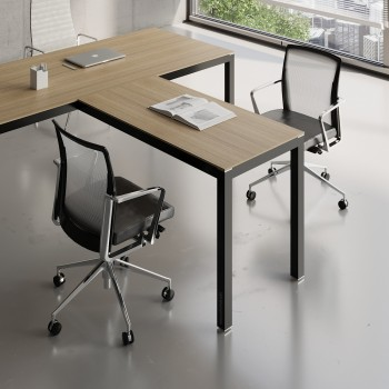 Impuls Desk Extension IM07, Black + Canadian Oak