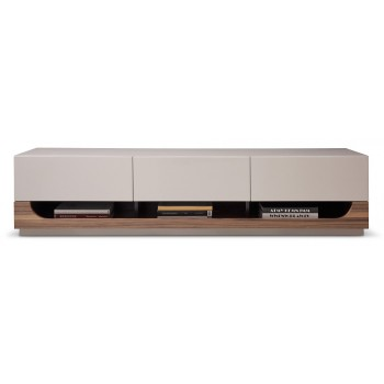 103 TV Stand, Grey Gloss + Walnut by J&M Furniture