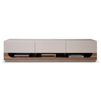 103 TV Stand, Grey Gloss + Walnut by J&M Furniture