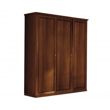 Nostalgia 3-Door Wardrobe, Walnut