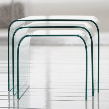 Anemone Nesting Tables, Extra Clear Transparent