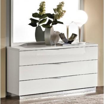 Onda Single Dresser, White