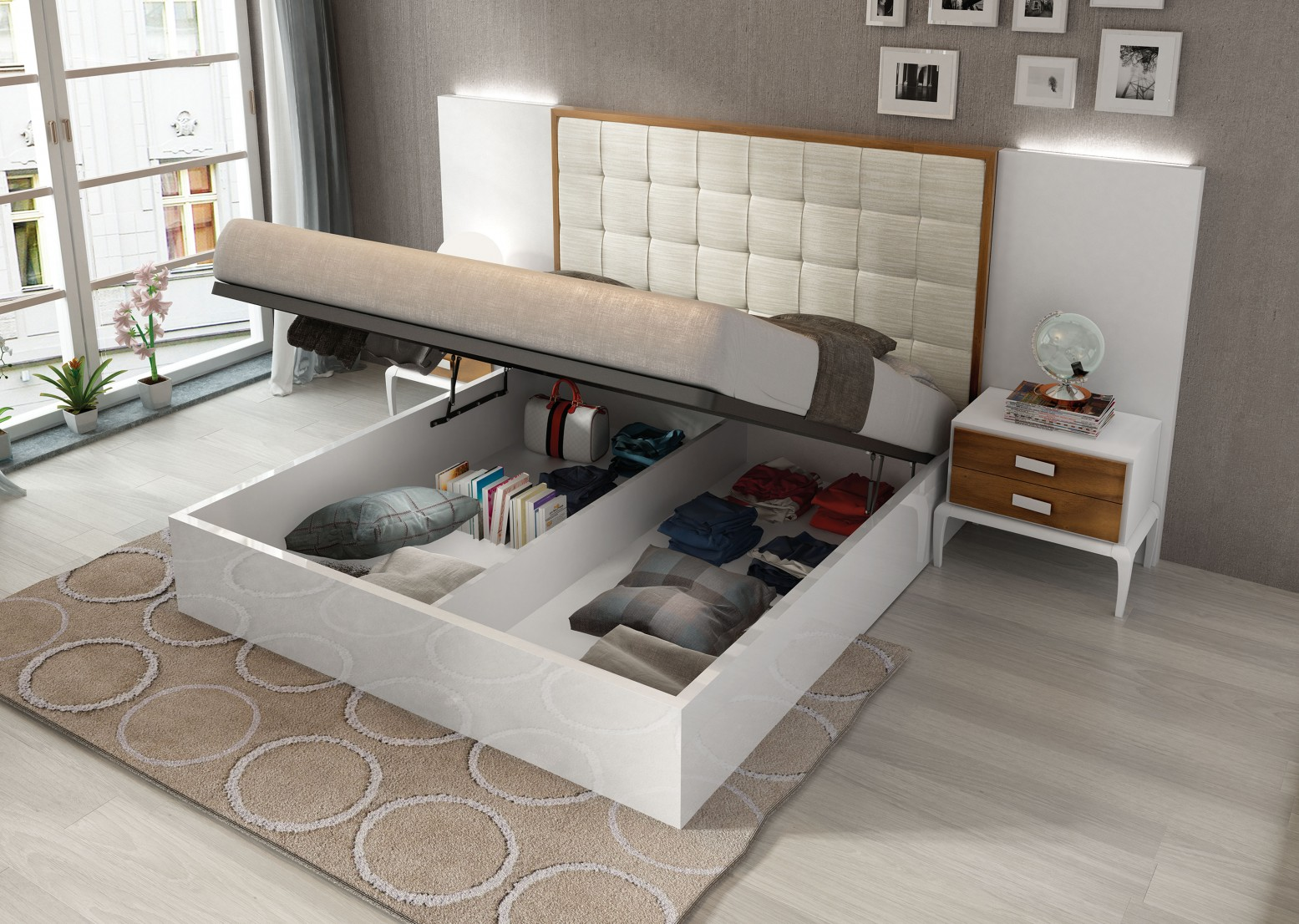 Malaga King Size Storage Bedroom Set