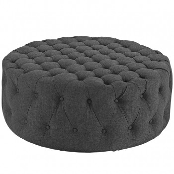 Amour Fabric Ottoman, Gray by Modway