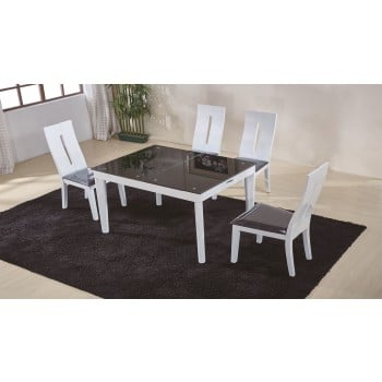 Gianni 6016 3-Piece Dining Set, Composition 1, White