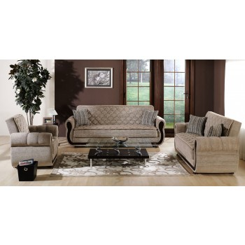 Argos 3-Piece Living Room Set, Zilkade Light Brown