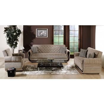 Argos 3-Piece Living Room Set, Zilkade Light Brown