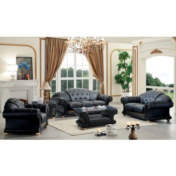 Apolo Living Room Set w/Sofa Bed, Black