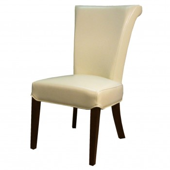 Bentley Bonded Leather Chair, Beige, Set of 2 by NPD (New Pacific Direct)