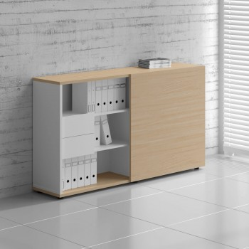 Managerial Storage ZS03, White + Beech