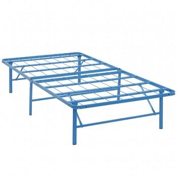 Horizon Twin Stainless Steel Bed Frame, Light Blue by Modway