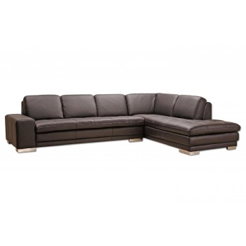 Block Sectional, Right Arm Chaise Facing, Brown