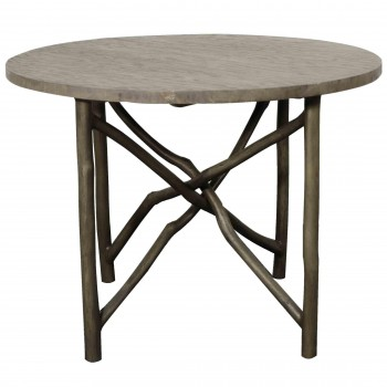 "Ashton 40"" Branch Dining Table, Washed Grey by NPD (New Pacific Direct)"