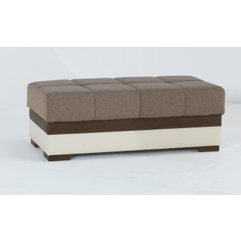 Moon Ottoman, Platin Mustard by Sunset International Trade