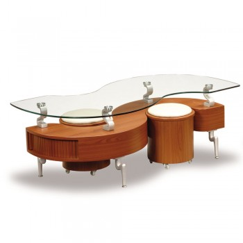 T288C Coffee Table, Brown by Global Furniture USA