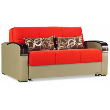 Sleep Plus Loveseat Sleeper, Orange by Casamode