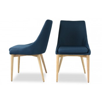 Jessica Contemporary Dining Chair, Blue