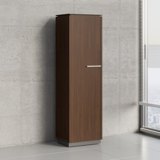 Status 1 Left Door Storage Cabinet X56, Chestnut photo