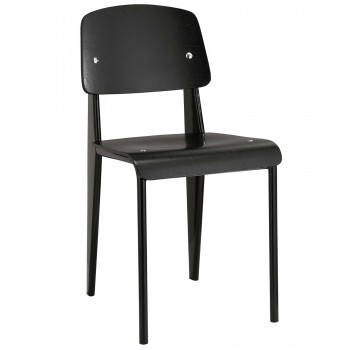 Cabin Dining Side Chair,  Black, Black by Modway