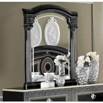 Aida Mirror, Black + Silver
