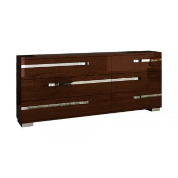 Volare Double Dresser, Walnut