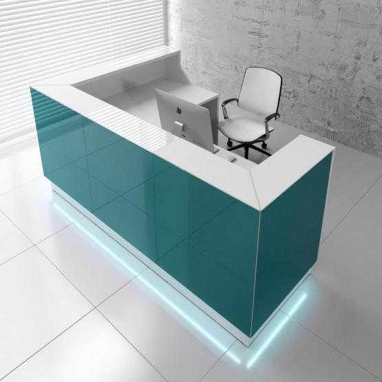 Linea LIN39P Reception Desk, Dark Turquoise photo