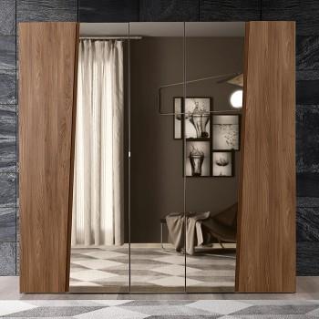 Akademy 5-Door Wardrobe w/Mirror