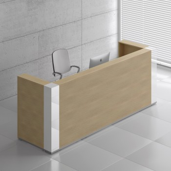Tera TRA123 Reception Desk, Canadian Oak