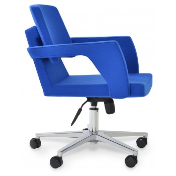 Adam Office Chair, Base A1, Blue Camira Wool by SohoConcept Furniture