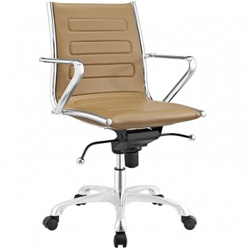 Ascend Mid Back Office Chair, Tan by Modway