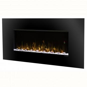 Contempra Wall-mount Electric Fireplace, Matte Black Finish