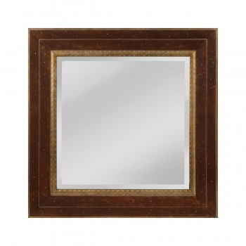 Darcey Wood Frame Mirror In Walnut And Roman Gold - Small
