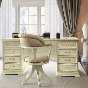 Torriani 2-Piece Office Set, Composition 3, Ivory
