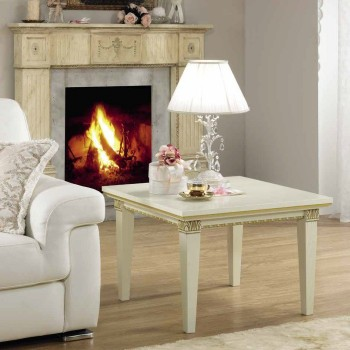 Treviso End Table, White Ash