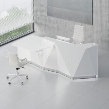 Alpa ALP22P Reception Desk, White