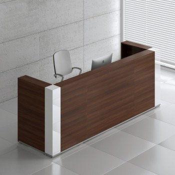 Tera TRA123 Reception Desk, Lowland Nut