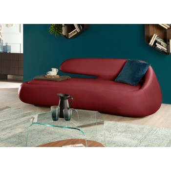 Duny Sofa, Burgundy Red Eco-Leather