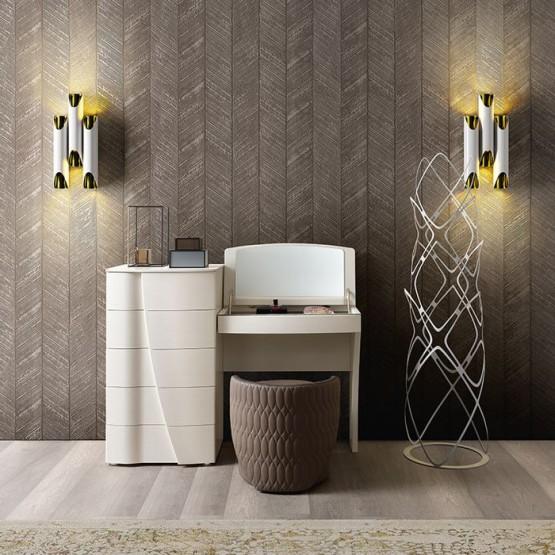 Luna C-SX Toilet Table, White Ash photo